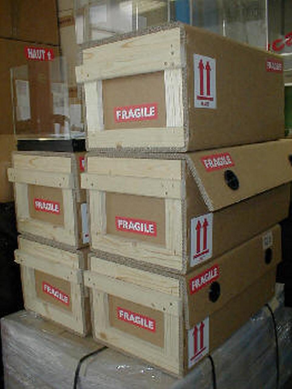 Caisse Mixte Bois Carton sur mesure Idéal pour transport léger # Caisse En Bois Sur Mesure