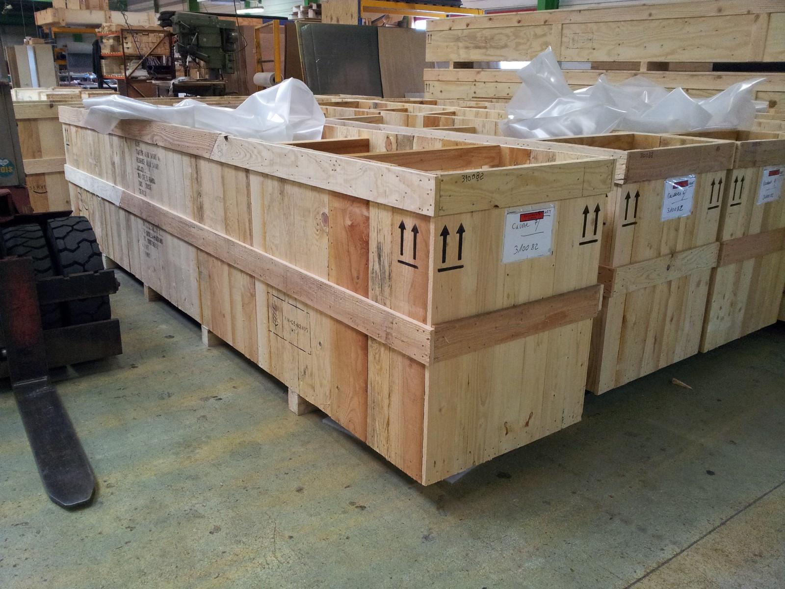 caisse bois perdue - emballage sur mesure à usage unique !