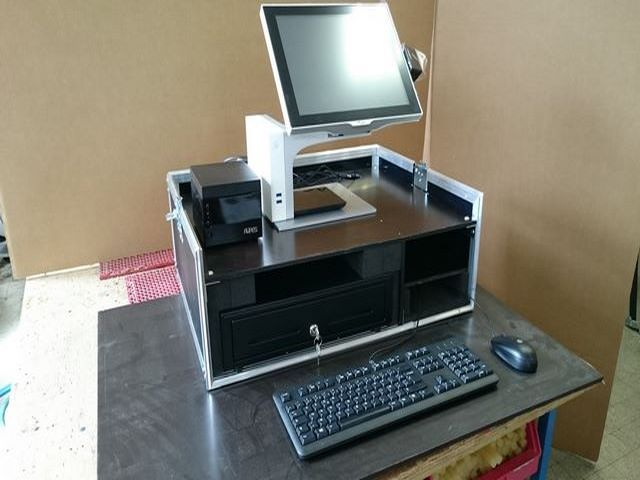Cash counter built in flycasee, JPEMBALL