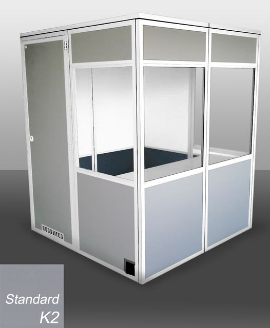 cabine gris standard, grey standard booth